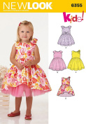 New Look Patterns UN6355A Toddlers' Dress with Length Variations, A