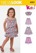 New Look Patterns UN6357A Toddlers' Dress, Top, Shorts and Bolero, A