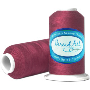 Polyester Sewing Thread - 600m - Colour 397 - WINE - 80 Colours Available - Threadart