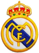 5.6cm x 7.9cm Real Madrid C.F. Football Club FC DIY Embroidered Sew Iron on Patch