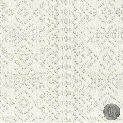 Ivory Rocky Mountain Tribal Crochet Lace Fabric by the Yard - 1 Yard