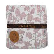 Zack & Tara Crib Skirt - Beautiful Blossoms in Pink