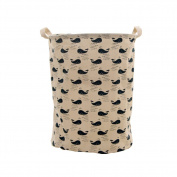 Cute Whales Foldable Laundry Basket Storage Bag Practical Hamper Bag
