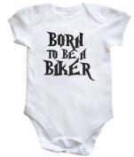 HippoWarehouse Born to be a biker baby vest boys girls