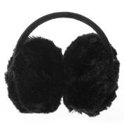 FACILLA® Cute Kids Toddler Children Earmuffs Ear Warmers Fluffy Plush Winter Warm black