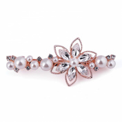 X & Y ANGEL New Arrival Fashion Double Flower With Pearl Women Crystal Hairgrips