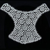 Beads4crafts 1 Cream Lace Sew On Embellishment Embroidery Applique 280Mm X 230Mm Hl419