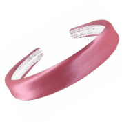 "Pink Satin Covered Padded Alice Hair Band Headband 2.5cm (1"") Wide"