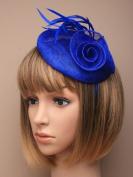 Allsorts® Royal Blue Hat Headband Fascinator Wedding Ladies Day Race Royal Ascot