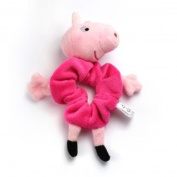 Girls Peppa Pig Large Pink Hair Scrunchie Bobble