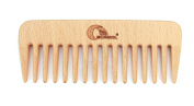 Natural Wood Hair Comb, Brush, Eco Friendly, Hair Care, Scalp Massage 13,5cm