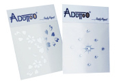 Addttoo Design Kit -'Silk' Silver Bouquet & Clear Crystals on Silver Bases. Crystal Adhese Included.
