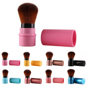 Retractable Blush Foundation Face Powder Cosmetic Makeup Brush