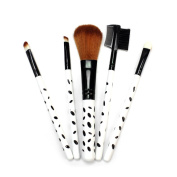 5pcs Make-up Brushes Set Foundation Eye Shadow Eyebrow Blusher Face Powder