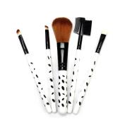 5pcs Make-up Brushes Set Foundation Eye Shadow Eyebrow Blusher Face Powder
