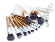 Beau Belle Bamboo Make Up Brushes - 'Starter Kit' Professional Make Up Brushes - Make Up Brushes Set - 11pcs Makeup Brushes