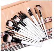 Zonman® 20 Pcs Specialised Beauty Cosmetics Make Up Foundation Eyeshadow, Eyebrow, Eyelash, Lip, Concealer, Powder Fan Blush Tool Kit