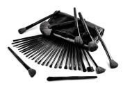 USpicy® Complete 32 piece Essential Makeup Brush Set with Travel Pouch