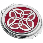 Celtic Enamel Shield Knot Compact Mirror - Gift Boxed