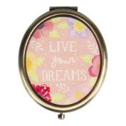 Sass & Belle Vintage Style Oval Compact Mirror - Live Your Dreams