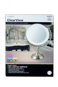 Clearview 24cm Round Double Sided LED Tabletop Illuminated Magnifying Mirror 1X/5X Magnified MLMIR108