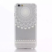 Culater® Henna White Floral Flower Plastic Case Cover Skin for iphone 6 plus