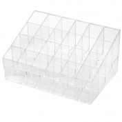 LIFECART 24 Stand Clear Acrylic Lipstick Organiser Makeup Holder Display Stand