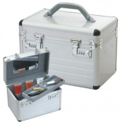 Beautycase Make-Up Case aluminium silver with combinationlocks