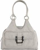 Ladies Classic Style Shoulder Bag with Buckle Detail / Twin Straps / Beige, Black, Petrol, Heather, Taupe, Navy
