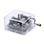 Laxury Plastic Music Box, Play the Wind Forest of Tonari No Totoro (Model Sy003,clear Base) (Tune Is the Wind Forest of Tonari No Totoro) Children, Kids, Game