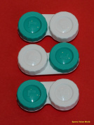 Sports Vision's Contact lens Cases - Flat Design CE Marked & FDA Approved 3 Pieces