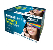*BULK BUY* ~ 8 BOXES CONTAINING 30 = 240 Optical Lens Smear Free Wipes Spectacle Cleaner, Mobile Phone , Camera Lens, Binoculars , Helmet Visors.