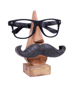 "Quirky Handmade ""Moustache Themed ""Wooden Spectacle Holder Stand"