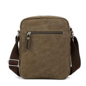 Eshow Men's Small Casual Canvas Cross Body Everyday Satchel Bag