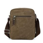 Eshow Men's Small Casual Canvas Cross Body Everyday Satchel Bag