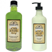 Village Naturals Therapy Bath Oil & Body Lotion Bundle