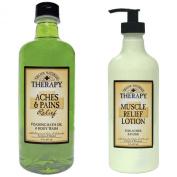 Village Naturals Therapy Bath Oil & Body Lotion Bundle