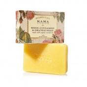 """Kama Ayurveda Rose, Orange and Cinnamon Soap with Organic Coconut, Jojoba and Castor Oils, 120g - - """"Expedited International Delivery by USPS / FedEx """""""
