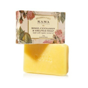 "Kama Ayurveda Rose, Orange and Cinnamon Soap with Organic Coconut, Jojoba and Castor Oils, 120g - - ""Expedited International Delivery by USPS / FedEx """