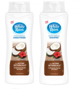 White Rain Moisturising Shampoo & Conditioner Set - Coconut & Hibiscus 440ml Each.