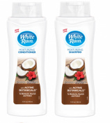 White Rain Moisturising Shampoo & Conditioner Set - Coconut & Hibiscus 440ml Each.