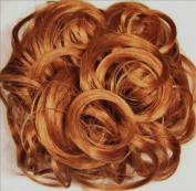 KATIE 18cm Pony Fastener Hair Scrunchie by Mona Lisa 27C Light Ginger