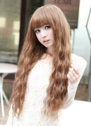 SuperWigy. Fashion Fluffy Healthy 60cm Long Curly Kanekalon Light Brown Hair Party Wig