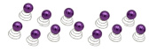 Newstarfactory Faux Pearl Collections Hair Twists Spins Clip Pack of 12
