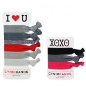 CyndiBands I Heart U and XOXO Hair Ties Sets