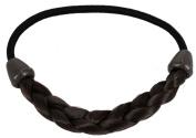 kathy Store INC 1pc Deep Brown Faux Wig Hair Elastic Rope Ring Hairband Hair Band Ponytail Holder -B