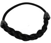 kathy Store INC 1pc Black Faux Wig Hair Elastic Rope Ring Hairband Hair Band Ponytail Holder -B