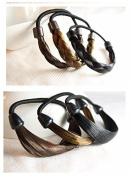 kathy Store INC 6pcs Faux Wig Hair Elastic Rope Ring Hairband Hair Band Ponytail Holder - B