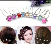 kathy Store INC 8pcs Silver Personality Pearl Crystal Wedding Bridal Jewellery Tiara Hairpins Flower Baby Princess Hair