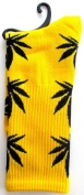 Weed Socks Marijuana Design Yellow